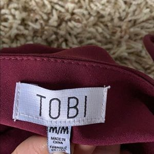 Tobi Dresses - Burgundy low back maxi dress